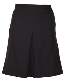 Utopia A Line Skirt with Pleat Black