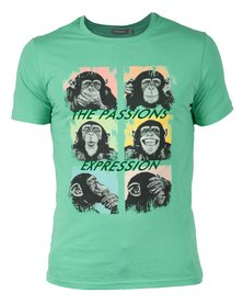 Utopia Printed T-Shirt Flock Expression Print Green