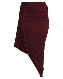 Utopia Draped Skirt Red
