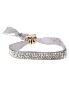 Utopia Diamante Bracelet Grey