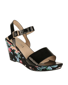 Utopia Wedge Sandal Black