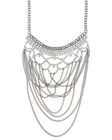 Utopia Diamante Drop Necklace Black