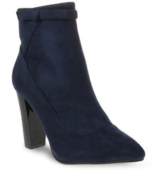 Utopia Button Boots Dark Blue