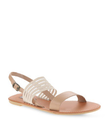 Utopia Elastic and Leather Sandals Camel