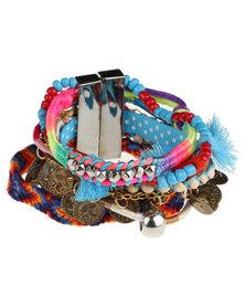 Utopia Woven Multi Bracelet Blue