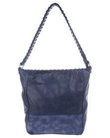 Utopia Whipstitch Detail Bag Navy