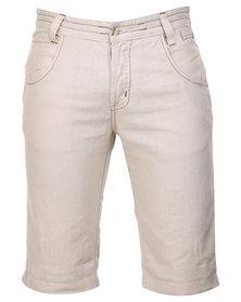 Utopia Linen Shorts Beige
