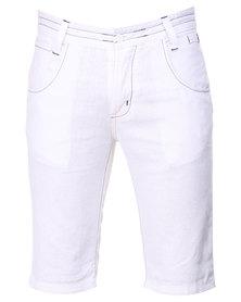 Utopia Linen Shorts White