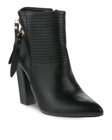 Utopia Ankle Boots with Zip Detail Black