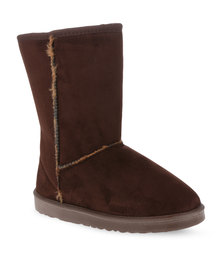 Utopia Mid Calf Boots Brown