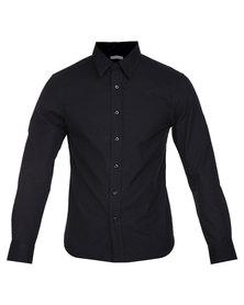 Utopia Brushed Cotton Shirt Black