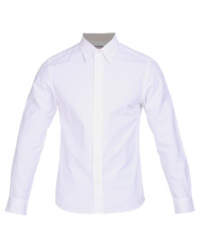 Utopia Brushed Cotton Shirt White
