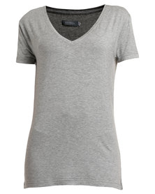 Utopia Basic V-neck Tee Grey