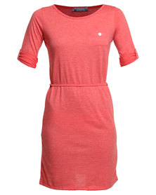 Utopia Tshirt Dress Coral Melange