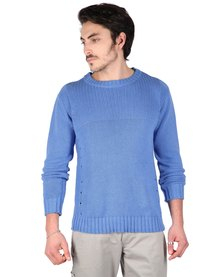 Utopia 100% Cotton Textured Solid Colour Jersey Blue