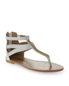 Utopia Strappy Thong Sandals White