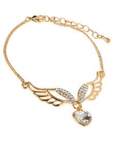 Utopia Wing FIne Bracelet Gold-Tone