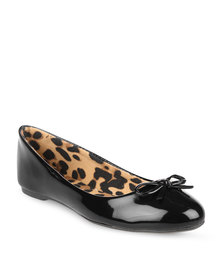 Utopia New Patent Bow Pumps Black