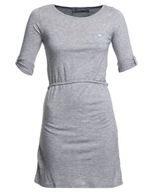 Utopia Tshirt Dress Grey Marl