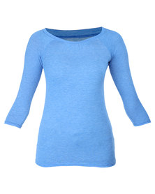Utopia Basic 3/4 Sleeve Tee Blue Marl