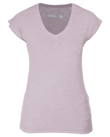 Utopia V-Neck Tee Grey