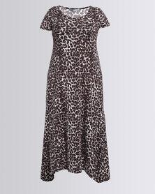 Utopia Plus Maxi Dress Animal Print