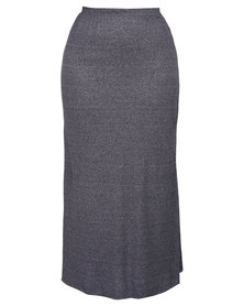 Utopia Plus Maxi Skirt Grey