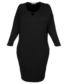 Utopia Plus Batwing Dress Black