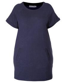 Utopia Plus Fleece Dress Navy