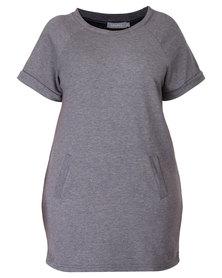 Utopia Plus Fleece Dress Charcoal