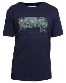VENTS BRULL Flippen Epic Tee Blue