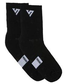 Versus Socks Top Line Black
