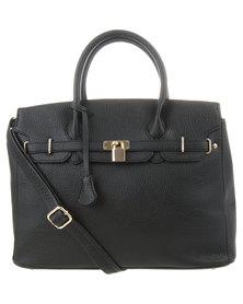 Vikson Structured Tote Bag Black