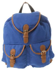Vikson Canvas Backpack Blue