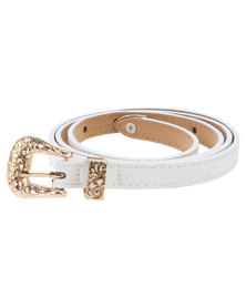 Vikson Belt With Buckle White