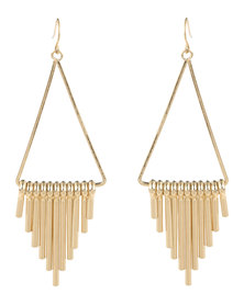 Vikson Spike Tri Earrings Gold-tone