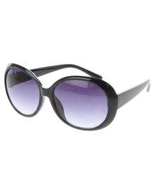 Viper Oversized Vintage Hollywood Sunglasses Black