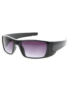 Viper Active Wraparound Sunglasses Black