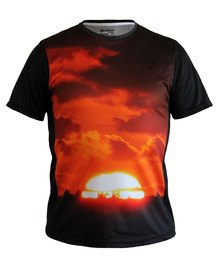 Vivolicious Africa Sun Tech Shirt Black Orange