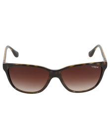 Vogue Tortoise Shell Sunglasses Brown