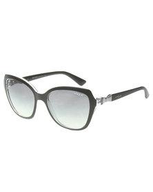 Vogue Oversized Gradient Lens Sunglasses Black
