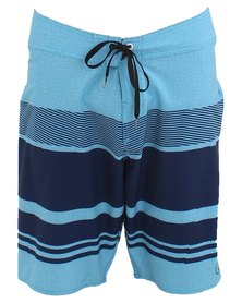 Volcom Rooted Board Shorts Blue Stripe