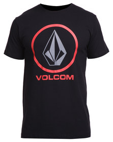 Volcom Circle Staple Tee Black