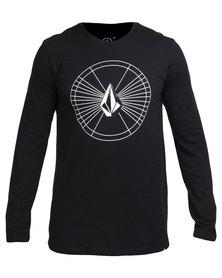 Volcom Space Time Too Long-Sleeve T-Shirt Black