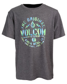 Volcom Shmolly T-Shirt Charcoal Melange