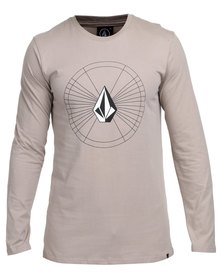 Volcom Space Time Too Long-Sleeve T-Shirt Grey