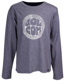 Volcom Boys Delia Long Sleeve T-Shirt Navy