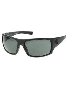 Von Zipper Suplex Black Satin Lock Hinge Sunglasses