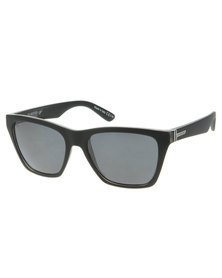 Von Zipper Booker Black Smoke Satin Polarised Sunglasses