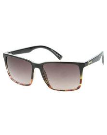 Von Zipper Lesmore Tortoise Square Lens Sunglasses Brown